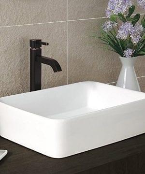 Comllen Counter White Porcelain Ceramic Bathroom Vessel Sink Art Basin 0 2 300x360