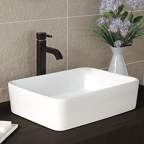 Comllen Counter White Porcelain Ceramic Bathroom Vessel Sink Art Basin 0 2