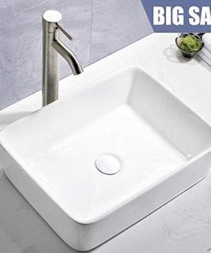 Comllen Counter White Porcelain Ceramic Bathroom Vessel Sink Art Basin 0 300x360