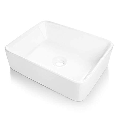 Comllen Counter White Porcelain Ceramic Bathroom Vessel Sink Art Basin 0 4