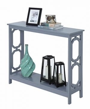Convenience Concepts Omega Console Table Gray 0 0 300x360