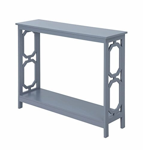 Convenience Concepts Omega Console Table Gray 0 1