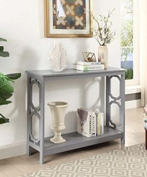 Convenience Concepts Omega Console Table Gray 0 300x360