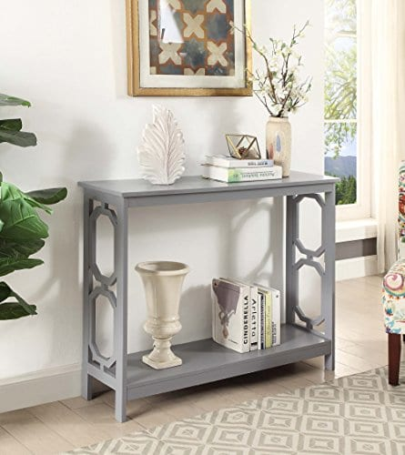 Convenience Concepts Omega Console Table Gray 0