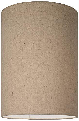 Cotton Blend Tan Cylinder Shade 8x8x11 Spider Brentwood 0 0