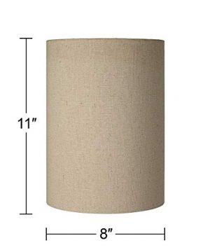 Cotton Blend Tan Cylinder Shade 8x8x11 Spider Brentwood 0 3 300x360