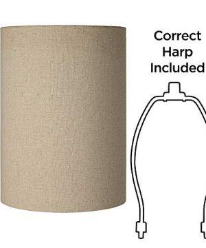 Cotton Blend Tan Cylinder Shade 8x8x11 Spider Brentwood 0 4 300x360
