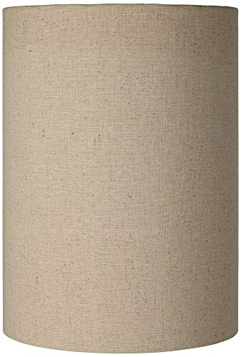 Cotton Blend Tan Cylinder Shade 8x8x11 Spider Brentwood 0
