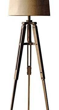 Creative Co Op Tripod Style Wood Floor Lamp With Drum Shade 0 194x360
