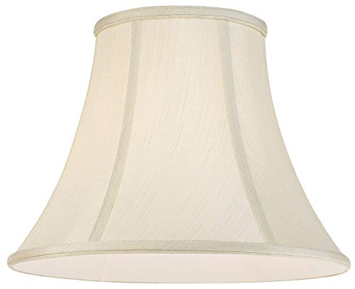 Creme Bell Lamp Shade Traditional Fabric Harp Included 7x14x11 Spider Imperial Shade 0 2