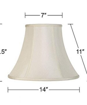 Creme Bell Lamp Shade Traditional Fabric Harp Included 7x14x11 Spider Imperial Shade 0 3 300x360