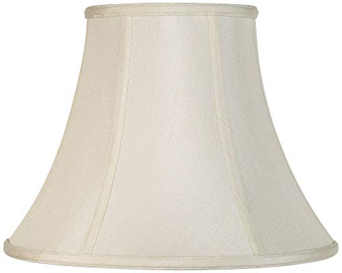 Creme Bell Lamp Shade Traditional Fabric Harp Included 7x14x11 Spider Imperial Shade 0
