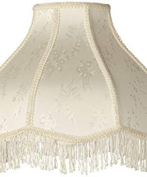 Creme Scallop Lamp Shade Fringe Harp Included 6x17x12x11 Spider Brentwood 0 300x360