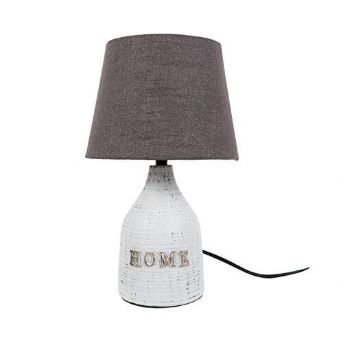 DEI Home Textured Shade SM Dcor Lamp Medium White 0