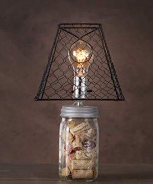 Darice Clip On Chicken Wire Lamp Shade Square Black 8 X 8 Inches 0 0 300x360