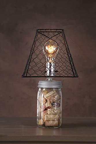 Darice Clip On Chicken Wire Lamp Shade Square Black 8 X 8 Inches 0 0