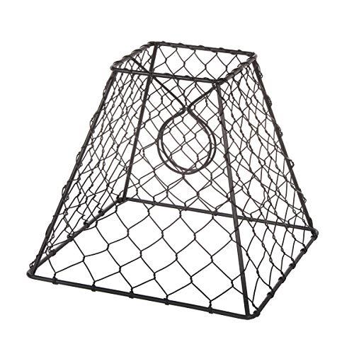 Darice Clip On Chicken Wire Lamp Shade Square Black 8 X 8 Inches 0 1