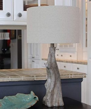 Decor Therapy TL17310 Table Lamp Driftwood Brown Gray 0 0 300x360