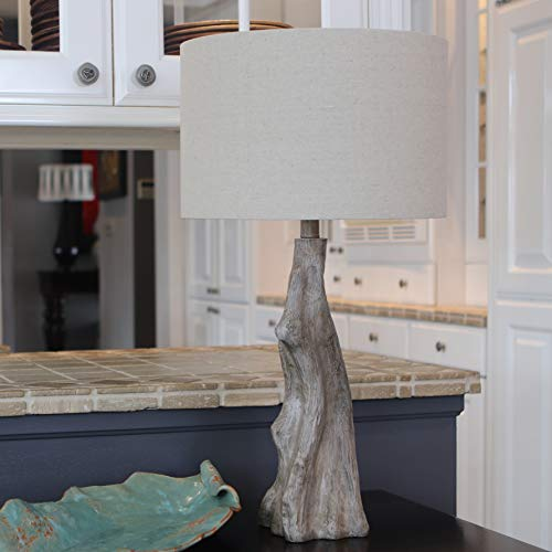 Decor Therapy TL17310 Table Lamp Driftwood Brown Gray 0 0