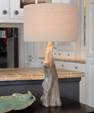 Decor Therapy TL17310 Table Lamp Driftwood Brown Gray 0 1 300x360