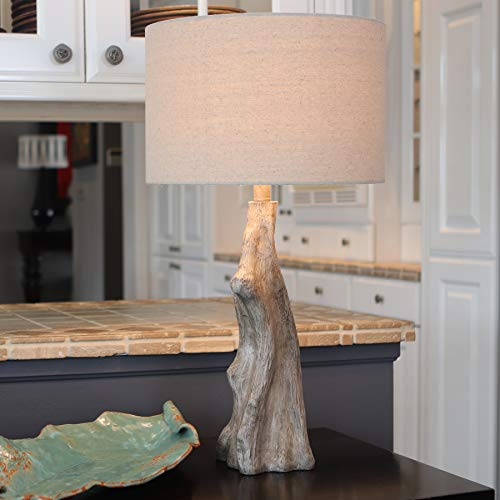 Decor Therapy TL17310 Table Lamp Driftwood Brown Gray 0 1