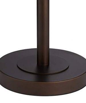 Derek Industrial Table Lamp Bronze Metal Mesh Drum Shade For Living Room Family Bedroom Bedside Nightstand Office Franklin Iron Works 0 3 300x360