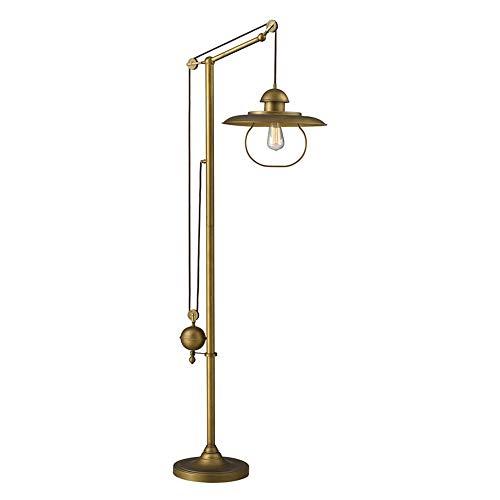 Dimond 65101 1 15 By 69 Inch Farmhouse 1 Light Floor Lamp Antique Brass Finish 0
