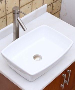ELIMAXS Unique Rectangle Shape White Porcelain Ceramic Bathroom Vessel Sink 0 2 300x360