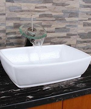 ELIMAXS Unique Rectangle Shape White Porcelain Ceramic Bathroom Vessel Sink 0 4 300x360