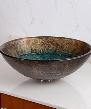 Elite 1507 Volcanic Pattern Tempered Glass Bathroom Vessel Sink 0 0 300x360