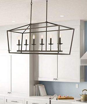 Emliviar 6 Light Kitchen Island Lighting Modern Linear Pendant Light Fixture Oil Rubbed Bronze Finish P3035 6LP 0 0 300x360