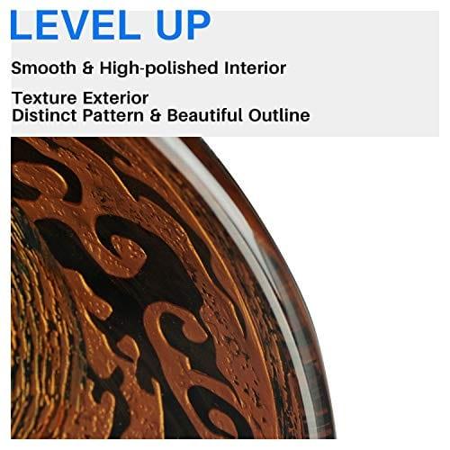 Enbol GS G0440 Retro Copper Brown Color Artistic Tempered Glass Bathroom Over Counter Artistic Vessel Vanity Sink Bowl 165 Inch Standard Round Top Wash Basin 0 3
