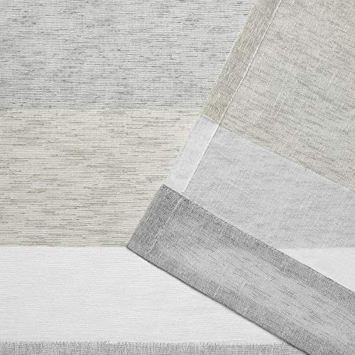 Exclusive Home Bern Stripe Sheer Rod Pocket Curtain Panel Pair Dove Grey 50x96 0 2