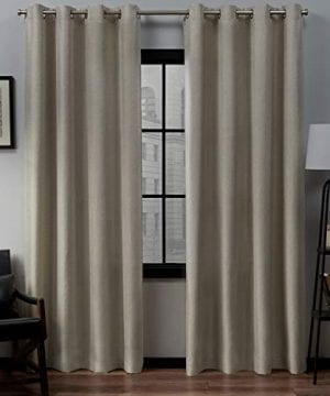 Exclusive Home Curtains Loha Linen Window Curtain Panel Pair With Grommet Top 54x96 Natural 2 Piece 0 300x360