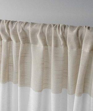 Exclusive Home Darma Sheer Linen Rod Pocket Curtain Panel Pair Linen 50x96 0 1 300x360
