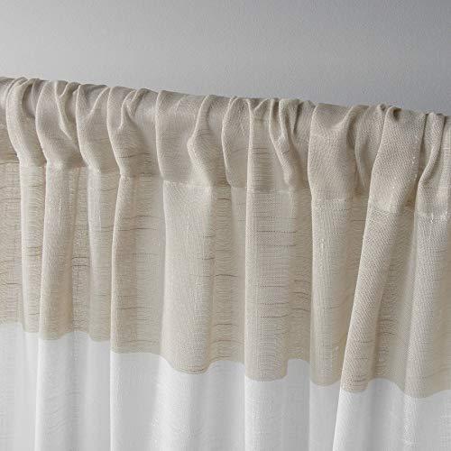 Exclusive Home Darma Sheer Linen Rod Pocket Curtain Panel Pair Linen 50x96 0 1