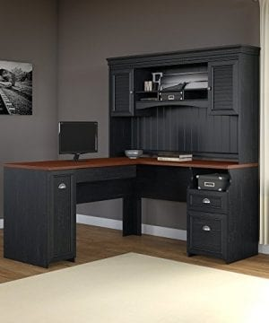 Fairview L Shaped Desk With Hutch In Antique Black 0 300x360