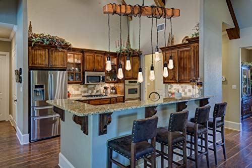 Farmhouse Lighting Wrapped Wood Beam Farmhouse Chandelier Pendant Light Fixture Rustic Lighting Great For Kitchen Island Lighting Dining Room Bar