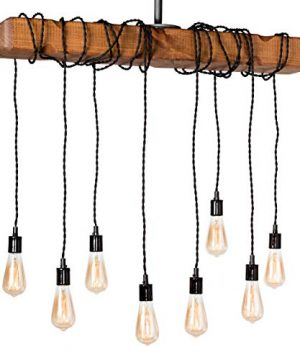 Farmhouse Lighting Wrapped Wood Beam Farmhouse Chandelier Pendant Light Fixture Rustic Lighting Great For Kitchen Island Lighting Dining Room Bar Industrial And Billiard Or Pool Table 0 300x360