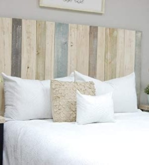 Farmhouse Mix Headboard Queen Size Hanger Style Handcrafted Mounts On Wall Easy Installation 0 300x332