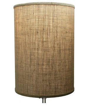 FenchelShadescom 12 Diameter X 17 Height Drum Lampshade Retro Rustic Vintage Hardback USA Made Burlap Natural 0 1 300x360