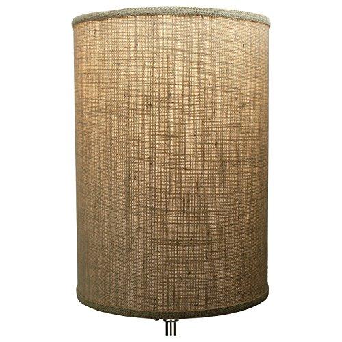 FenchelShadescom 12 Diameter X 17 Height Drum Lampshade Retro Rustic Vintage Hardback USA Made Burlap Natural 0 1