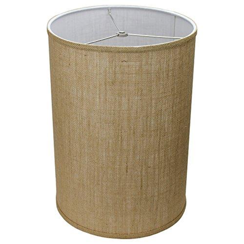 FenchelShadescom 12 Diameter X 17 Height Drum Lampshade Retro Rustic Vintage Hardback USA Made Burlap Natural 0