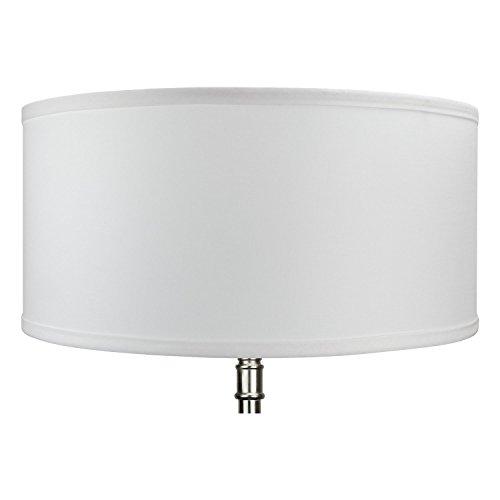 FenchelShadescom 17 Top Diameter X 17 Bottom Diameter 8 Height Cylinder Drum Lampshade USA Made White 0 0