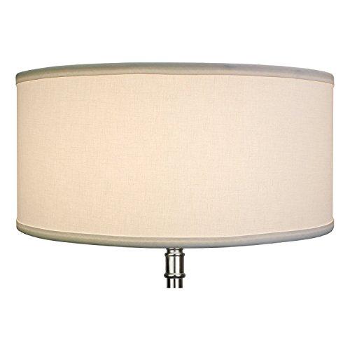FenchelShadescom 17 Top Diameter X 17 Bottom Diameter 8 Height Cylinder Drum Lampshade USA Made White 0 1