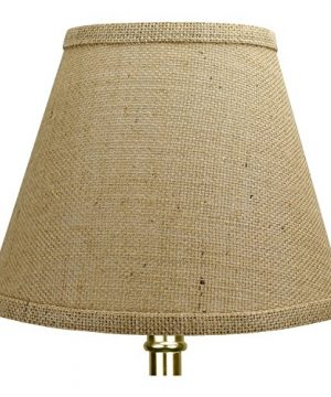 FenchelShadescom-Lampshade-5-Top-Diameter-x-9-Bottom-Diameter-x-7-Slant-Height-with-Clip-On-Attachment-for-Standard-Edison-Style-Lightbulb-Burlap-Natural-0-0