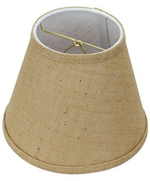 FenchelShadescom Lampshade 5 Top Diameter X 9 Bottom Diameter X 7 Slant Height With Clip On Attachment For Standard Edison Style Lightbulb Burlap Natural 0 300x360