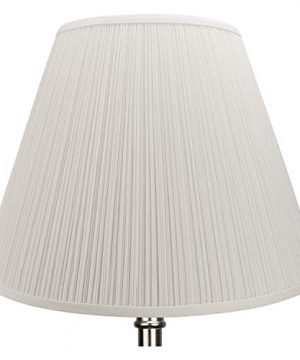 FenchelShadescom-Lampshade-9-Top-Diameter-x-18-Bottom-Diameter-x-13-Slant-Height-with-Washer-Spider-Attachment-for-Lamps-with-a-Harp-Pleated-Cream-0-0