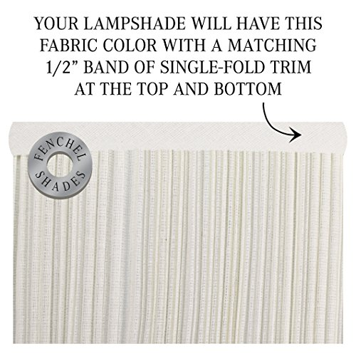 FenchelShadescom Lampshade 9 Top Diameter X 18 Bottom Diameter X 13 Slant Height With Washer Spider Attachment For Lamps With A Harp Pleated Cream 0 2