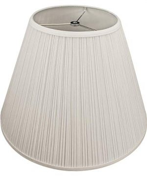 FenchelShadescom Lampshade 9 Top Diameter X 18 Bottom Diameter X 13 Slant Height With Washer Spider Attachment For Lamps With A Harp Pleated Cream 0 300x360